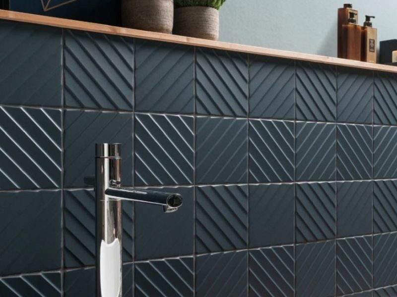 Ceramica 4D DIAGONAL DEEP BLUE