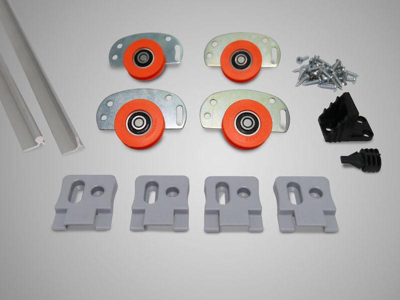 Sistema Corredizo Closet KIT CARROS + RIEL D52 - Ducasse Industrial | CONSTRUEX