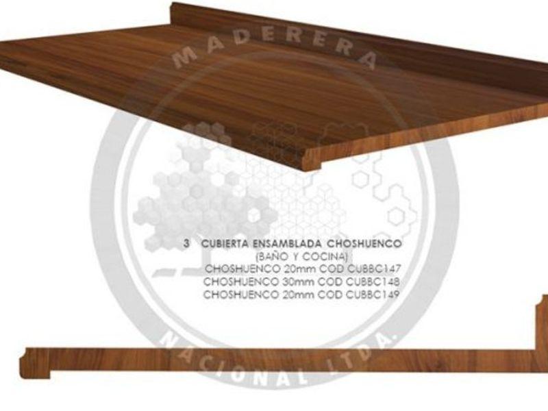 Cubierta ensamblada mobiliario Choshuenco