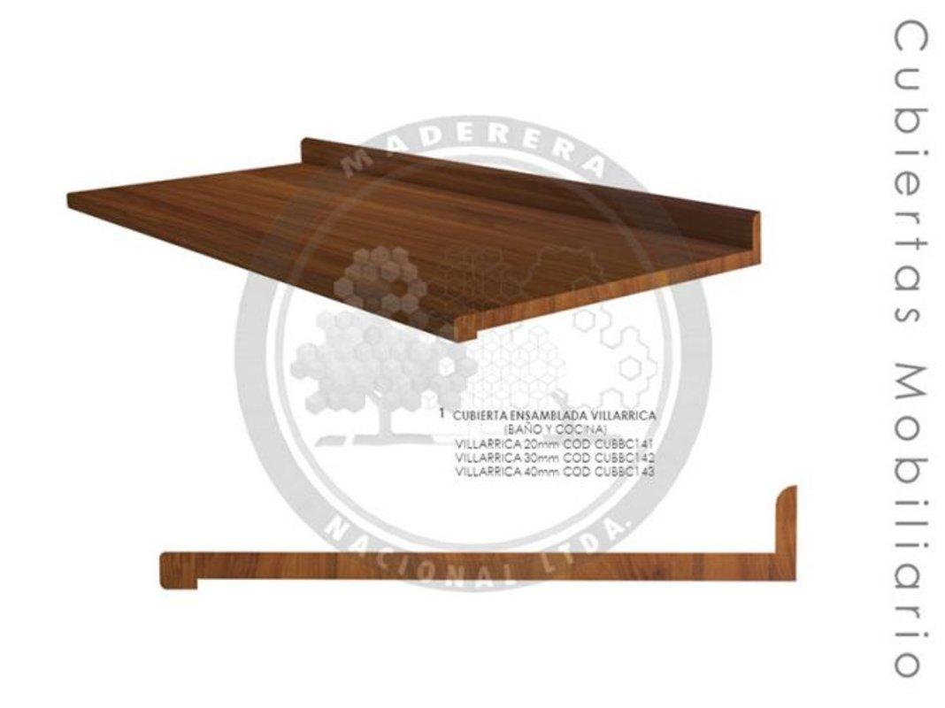 Cubierta ensamblada mobiliario Villarrica | Maderera Nacional Limitada